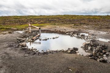 Landbrotalaug hot natural pool, Snaefellsnes, Iceland