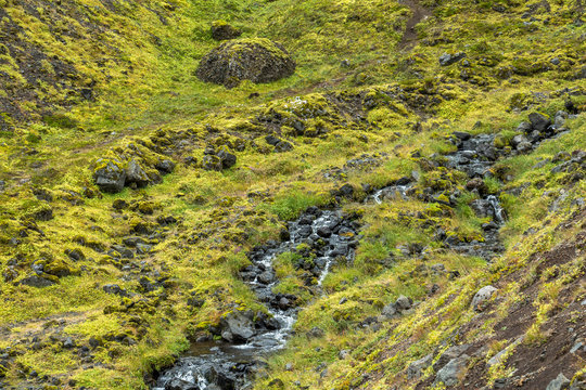 Raudfeldsgja ravine, impressive landscape of Snaefellsnes, Iceland