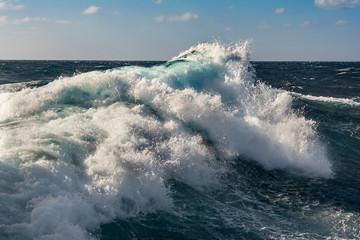 sea wave in atlantic ocean during storm