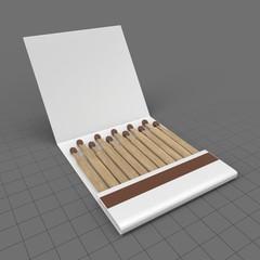 Open slim matchbox