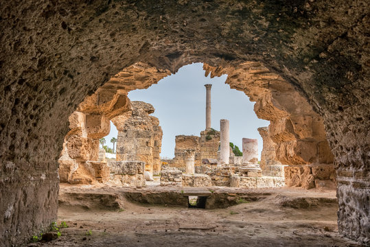 Antonine Baths in Carthage, Tunisia
