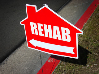 drug rehab sign