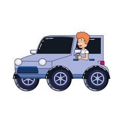 man driver jeep avatar character
