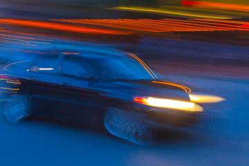 Impression of a Speeding Car
