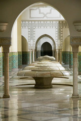 Africa, Morocco, Casablanca. King Hassan II Mosque. Ablution room.