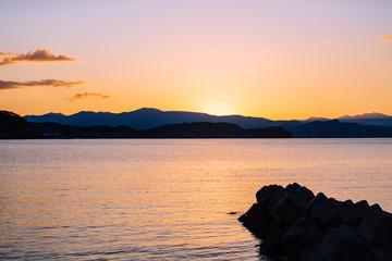 The sunset coast of Hokkaido Otaru