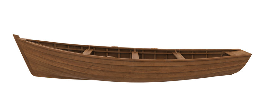 Wooden Boat Isolated