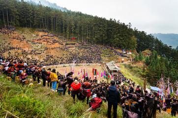 Water buffalo fighting festival in Heko village Guizhou Province China