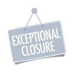 Exceptional closure