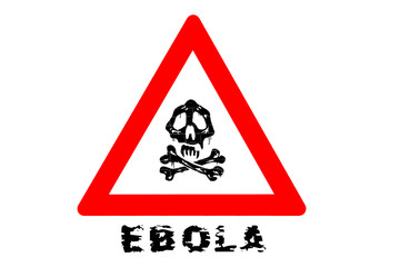 Ebola Warnschild