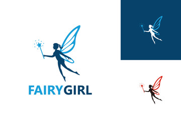 Fairy Girl Logo Template Design Vector, Emblem, Design Concept, Creative Symbol, Icon