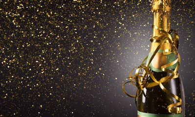 Champagne bottle for New year celebration