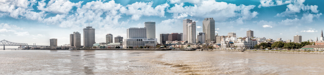 Wall Mural - New Orleans skyline at sunset