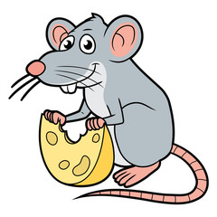 Rat with a cheese