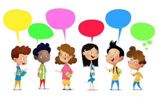 17,972 BEST Kids Talking Cartoon IMAGES, STOCK PHOTOS & VECTORS | Adobe  Stock