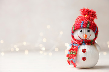 Cute decorative festive smiling snowman