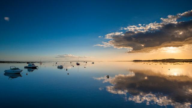 Sunset on the Arcachon Bay