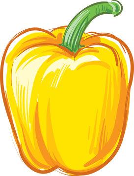 Fresh yellow pepper vegetable