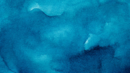 Blue azure abstract watercolor background for textures backgrounds and web banners design Wall mural
