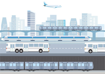 Verkehrswesen in einer Großstadt