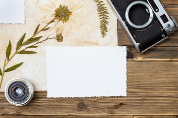 photo, flowers, lens and Retro camera