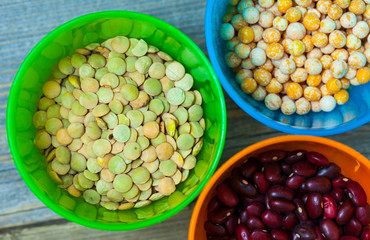 lentil, pea and bean