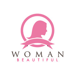 Beautiful woman logo design inspiration