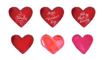Happy Valentines Day vector banner set