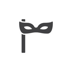 Party mask vector icon. filled flat sign for mobile concept and web design. Carnival mask simple solid icon. Symbol, logo illustration. Pixel perfect vector graphics