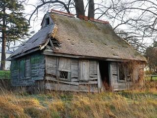 Charming wooden cabin in winter, Sarratt, Hertfordshire, England, UK