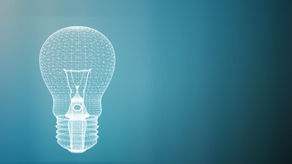 Light bulb with free copy space for your text, creativity ideas business concept.