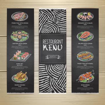 Chalk drawing restaurant menu design