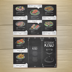 Chalk drawing restaurant menu design