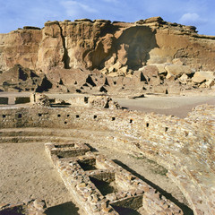 Pueblo Bonito, in Chaco Canyon, Chaco Culture N.H.P