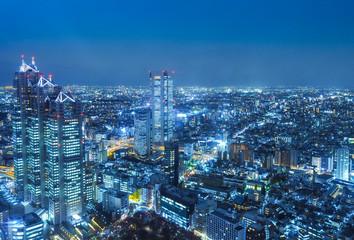 都庁から眺める東京都市風景 夜景