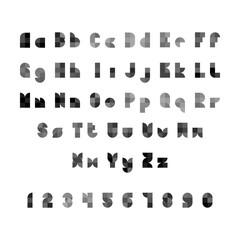 Vector Geometric Alphabet in Flat Geometric Style
