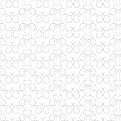 Twig with spiral gray seamless pattern. Fashion graphic background design. Modern stylish abstract texture. Monochrome template for prints, textiles, wrapping, wallpaper, website. Vector illustration.