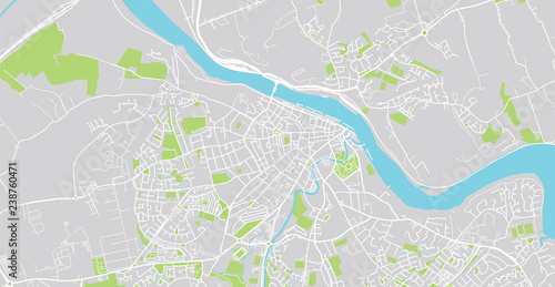Urban Vector City Map Of Waterford Ireland Stock Image And Royalty