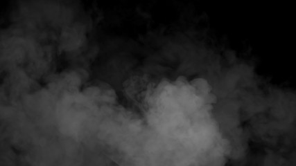 Fog and mist effect on black background. Smoke texture