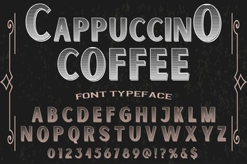 vintage font typeface vector