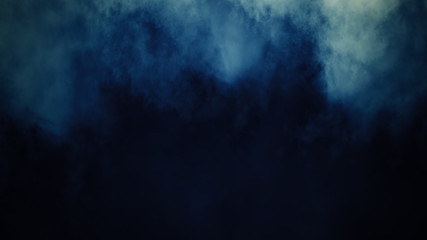 Abstract colorful smoke mist fog on a black background. Texture. Design element.