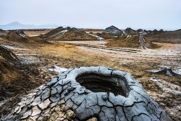 Mud volcanoes of Gobustan near Baku, Azerbaijan