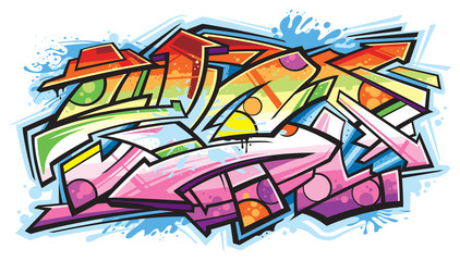 Printed kitchen splashbacks Graffiti Graffiti art