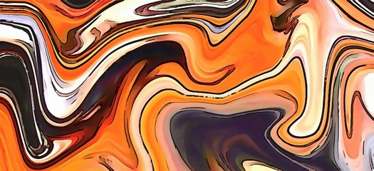Unusual watercolor abstract background. Surreal lines and swirls. Bright colors design.