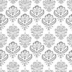 Seamless pattern of sketches of decorative vintage elements