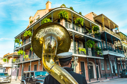 New Orleans in a sunny beautiful day with blue skies.
