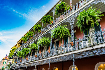 New Orleans in a sunny beautiful day with blue skies.  Fotomurales