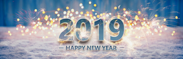 Happy New Year 2019  -  Greeting Card