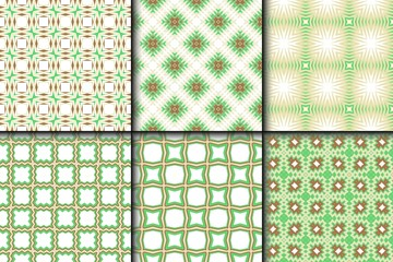 Set of Modern Decorative seamless Abstract geometric pattern. Vector colored illustration. paper for scrapbook.