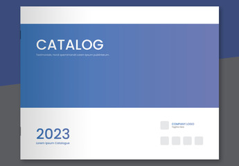 Product Catalog Layout with Blue Accents